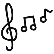 Design ~ Note, notes, Notenschlüssel, music, sounded, clay/tone, piano, skirt, pop, to instrument, scale, chord, learns, to reading, tones, guitar, plays the violin, musical, child, children