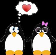 Valentinstag Shirt: Verliebte Pinguine 02