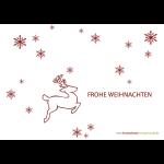 Hirsch + Schneeflocken
