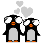 penguins fallen in love - pinguine