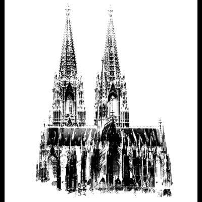 Dom SW white - Negativ des Doms - negativ,SW,Köln,KÖLNER DOM,Dom