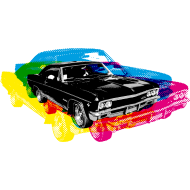 Design ~ Muscle Car - Retro - CMYK