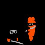 ninja bunny vs. carrot