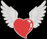 Valentinstag Shirt: flying heart