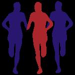 Drei Läufer