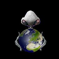 Motif ~ alien_texte_noir