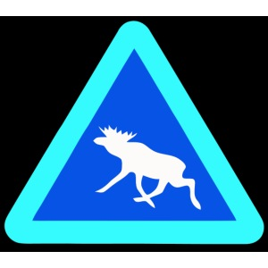 Warnung! Elch! Moose! Älg! Schweden Sweden (pixel)