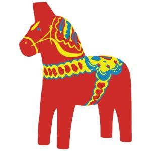 Dalahäst Dalecarlian Horse Dala-Pferd. Schweden
