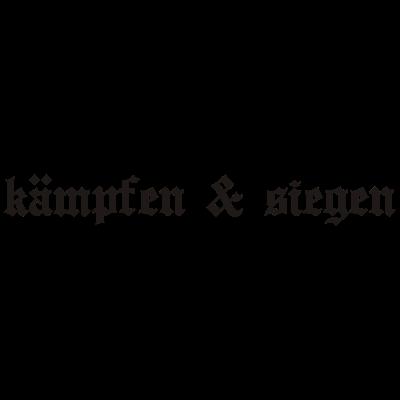 00086kaempfen_und_siegen - Kämpfen & Siegen, Fun, Design, Trendy, Style, Fashion, Symbol, Zeichen, Logo, Motto, Spruch, Lebenseinstellung  - zeichen,spruch,logo,design,Trendy,Symbol,Style,Motto,Lebenseinstellung,Kämpfen & Siegen,Fun,Fashion