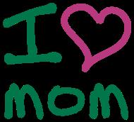 Muttertag Shirt: ibisdesigns_ilovemom3_vec