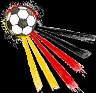Fan-Shirt: Football Germany (Deutschland, Strahlen)