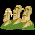 Motif Têtes de l'île de Paques