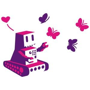 robot loves butterfly