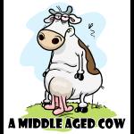 Eine Mitte gealterte Kuh