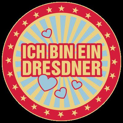 Ich bin ein Dresdner - Das Offizielle Shirt - passend zur Flyer-Kampagne auf obama.besucht-dresden.de - obama,Dresdner,Dresden