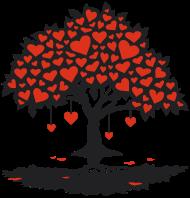 Valentinstag Shirt: hearttree_2f