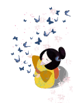 Motif Japonaise et papillons