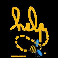 Motif ~ bee_help_texte_jaune