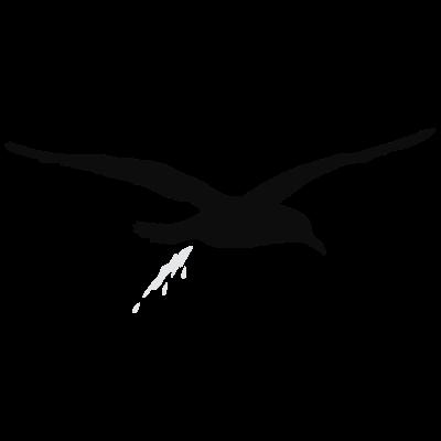 moewenschiss_zweifarbig - Möwe + Schiss = Möwenschiss.. Letztens wurde ich knapp am Hamburger Hafen verfehlt und wurde zu diesem Design inspiriert.  - vogel,urlaub,strand,scheisse,natur,humor,fliegen,Wismar,Schwerin,Rostock,Ostsee,Nordsee,Möwe,Meer,Lübeck,Küste,Kiel,Insel,Hamburg,Hafen,Flensburg,Bremen,Bomber,Bombe