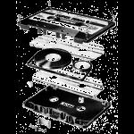 Audio Tape Black