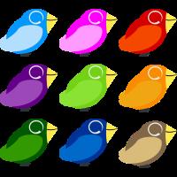 Gruppe Vögel