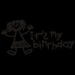 Es ist mein Geburtstag - Mädchen