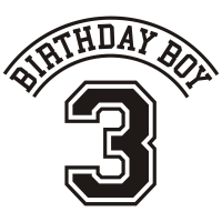 Geburtstagskind 3 Jahre