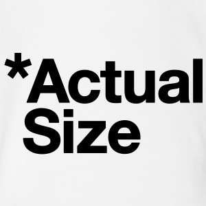*Actual Size - Organic Short-sleeved Baby Bodysuit
