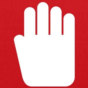 Hand pictogramm, stop signal - Tote Bag