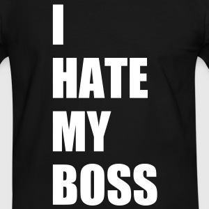 I hate my boss T-Shirts - Men's Ringer Shirt