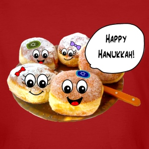 Happy Hanukkah cute doughnuts T-Shirts - Men's Organic T-shirt