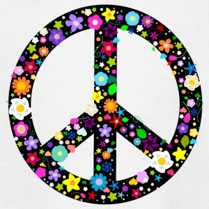Flower Peace Sign Shirts - Teenage T-shirt