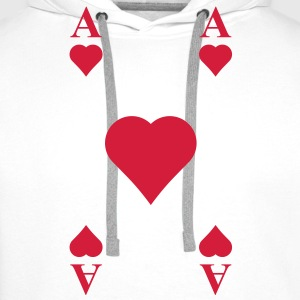 ace of hearts, playing card  Hoodies & Sweatshirts - Men's Premium Hoodie