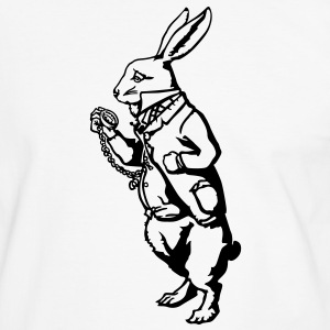 Lapin blanc Alice Tee shirts - T-shirt contraste Homme
