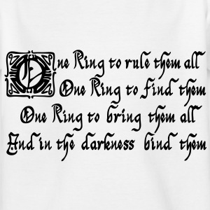 One Ring to rule them all Tee shirts - T-shirt Enfant