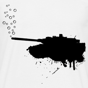 soap bubbles splash tank - Black - Männer T-Shirt