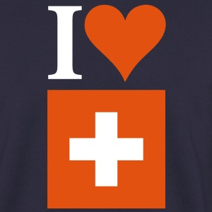 I Love Switzerland 3c Hoodies & Sweatshirts - Men's Sweatshirt