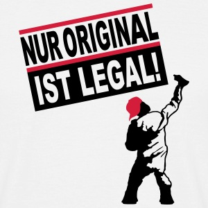 graffiti sprayer - nur original ist legal T-Shirts - Männer T-Shirt