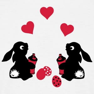 rabbit falling in love T-Shirts - Männer T-Shirt