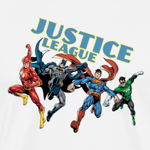 Justice League Character Mix 2 herre-T-shirt - Herre premium T-shirt