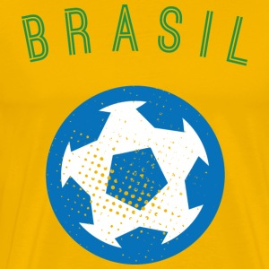 Brazil Men's Football T-Shirt - Men's Premium T-Shirt