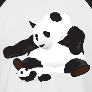 Panda and cub - Men's Baseball T-Shirt