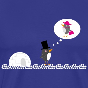 Max, the Penguin, dreams of Maxine - Men's Premium T-Shirt