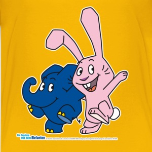 Kleiner Elefant Kinder T-Shirt - Elefant und Hase - Teenager Premium T-Shirt