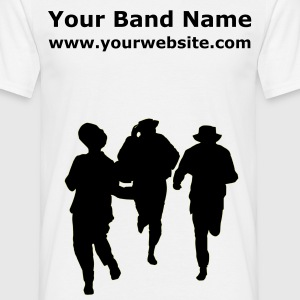 White Dancers three male Men's T-Shirts - Men's T-Shirt