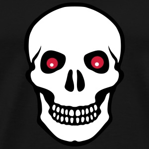 Skull red eyes men t shirt - Men's Premium T-Shirt