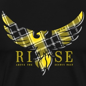Rise Yellow Tartan Men Tee - Männer Premium T-Shirt