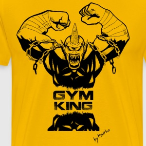 Gym King shirt - Mannen Premium T-shirt
