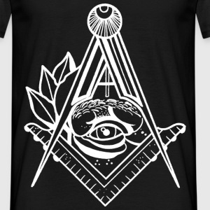 Illuminated Eye & Freemason Symbology - Men's T-Shirt