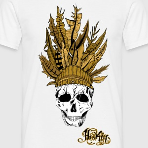 T-shirt Indian Skull Men White - T-shirt Homme